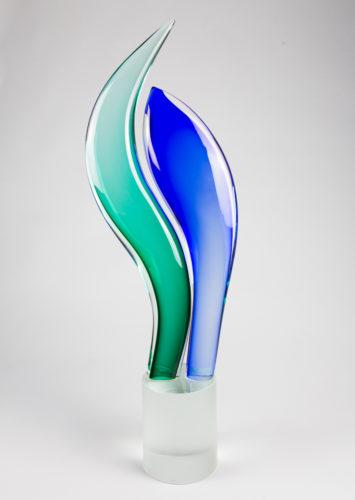 Foglie Blu aquamare