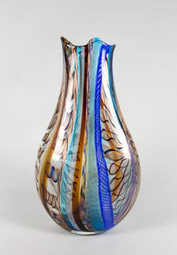 Sinuoso blu acquamarina ambra battuto