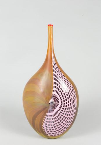 Vaso bamboo farfalla reticello rosa-nero