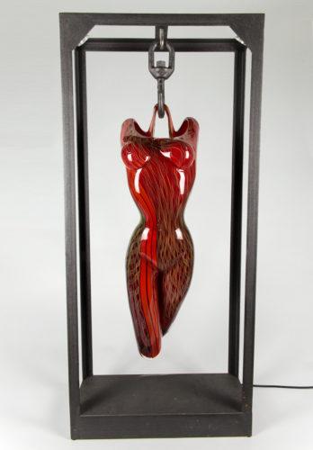 Busto donna rosso filigrana