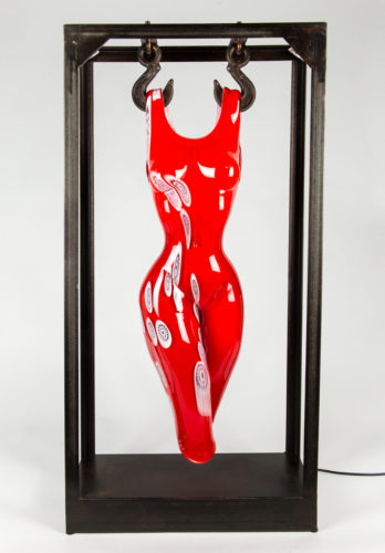 Busto donna rosso murrine